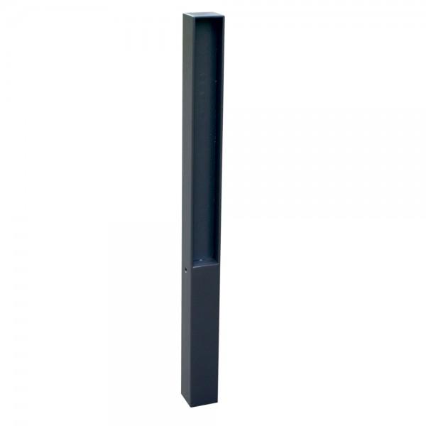 Stilpfosten mit Flachstahl Aufsatz Sperrpfosten ortsfest 70 x70 mm