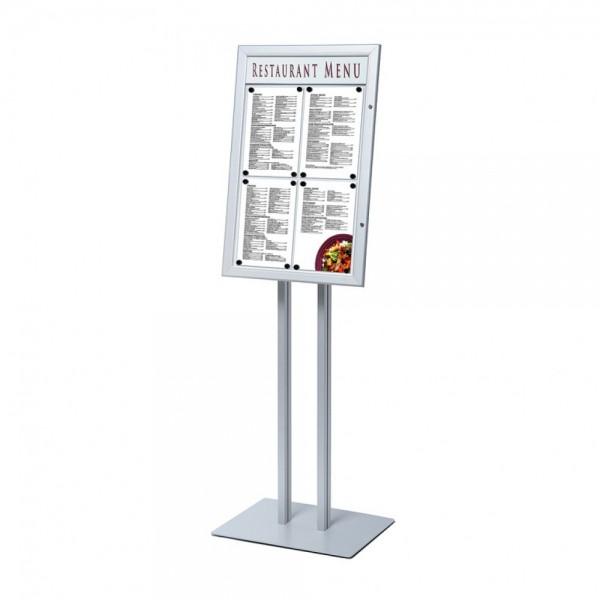 Schaukasten mit Ständer für Speisekarten abschließbar 4 x DIN A4