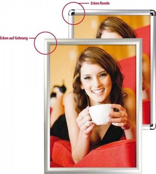 Klapprahmen 25 mm Plakatrahmen Rahmen mit Ecken Rondo oder Gehrung
