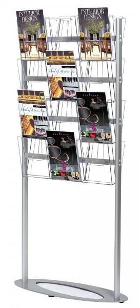 Prospektständer Cocktail aus Stahl mit DIN A4 Acryl Prospektboxen