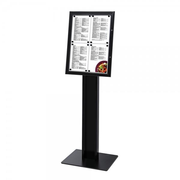Schaukasten für Speisekarten mit Standfuß abschließbar 4 x DIN A4