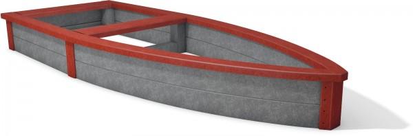 Sandkasten Lut aus Recycling Kunststoff als Boot in 4 Farben