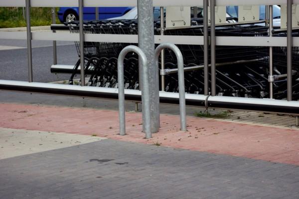 Schutzbügel Universal Dübelbefestigung Stahl starker Abweisebügel