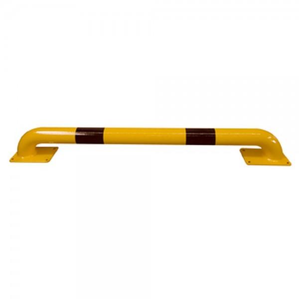 Rammschutzbügel flach 115mm Höhe gelb schwarz Schutzbügel für Tore