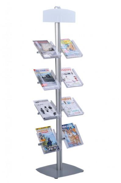 Prospektständer Ständer Aluminium Profil mit DIN A4 Acryl Ablagen