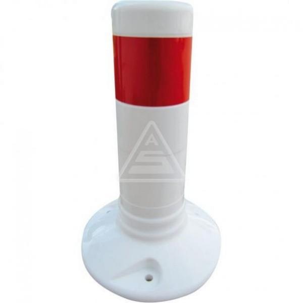 Kunststoffpfosten weiß Ø 80 mm Flexipfosten mit Schrauben Dübel