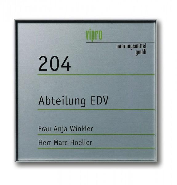 Türschild UNITEX L ohne Beschriftung Schild Aluminium u. Acrylglas