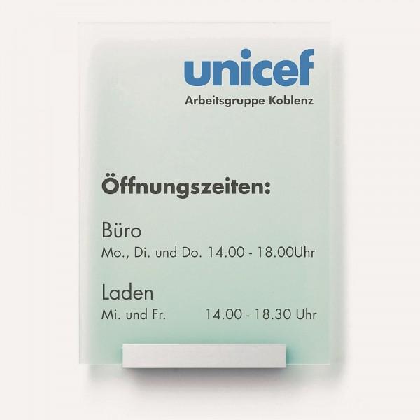 Türschild UNITEX M transparent + opak Acrylglas ohne Beschriftung