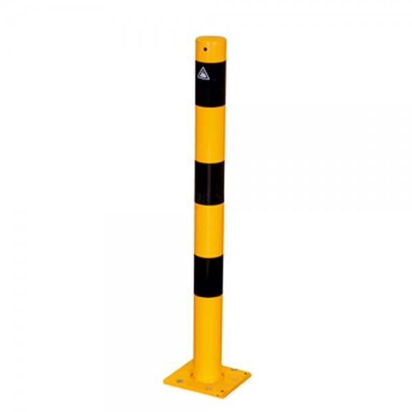 Absperrpfosten abnehmbar gelb schwarz Sperrpfosten lösbar Werkschutz