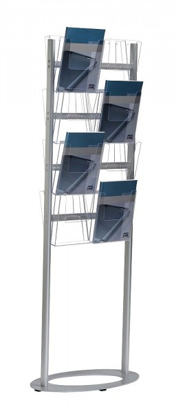 Prospektständer Stahl Prospekthalter DIN A4 Acryl Prospektboxen