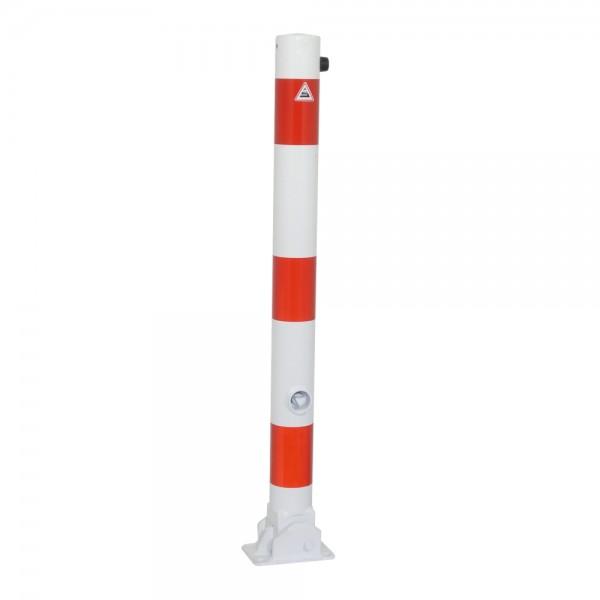 Absperrpfosten umlegbar mit Dübelbefestigung Dreikant Stahl Ø76