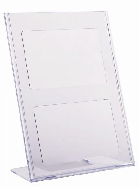 Aufsteller SCRITTO® L-Form Prospekt Halter Ständer für Tisch Theke