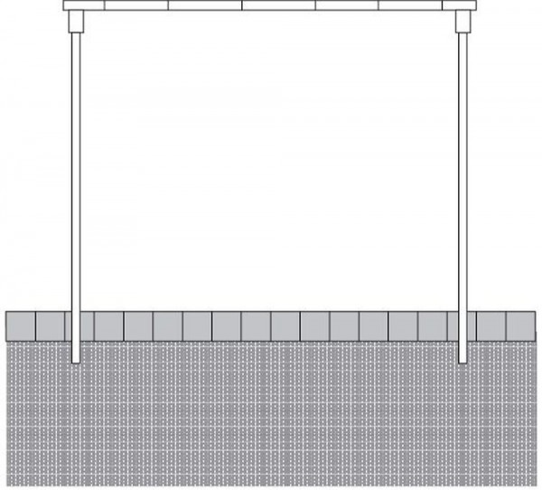 Teppichklopfgerüst aus Ø60 mm Stahlrohr Gerüst zum Teppich klopfen