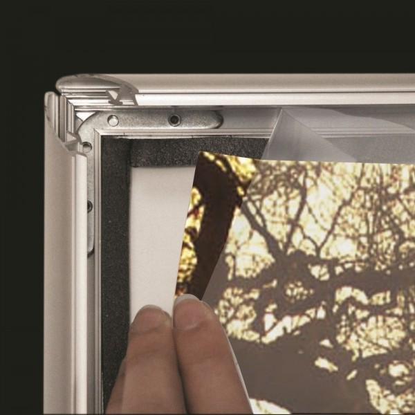 Antireflex Schutzfolie wasserfeste Rahmen Außen mit 25 mm Profil