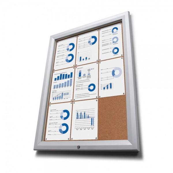 Schaukasten T für Außen IP56 mit Kork Rückwand und ESG Verglasung