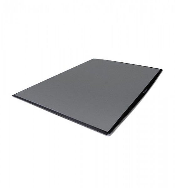 DeskWindo® Posterdisplay in schwarz für Tisch Tresen oder Theke