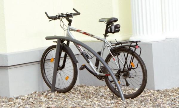 Fahrradständer Fahrradanlehnbügel formschön designt Stadtmobiliar