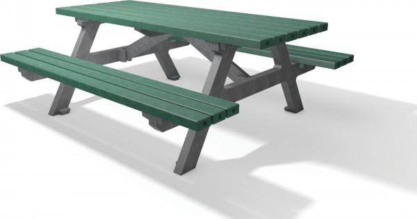 sitzgruppe serengeti tisch bank f r au en aus kunststoff amsdirekt. Black Bedroom Furniture Sets. Home Design Ideas