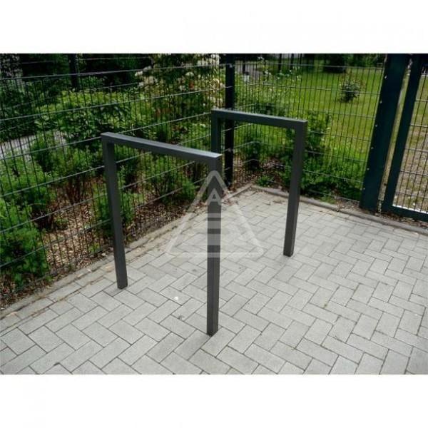 Fahrradständer 60 x 40 mm Stahl Rechteckrohr Fahrrad Anlehnbügel