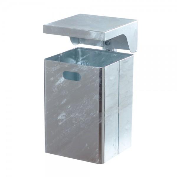 Abfallbehälter Abfallsammler rechteckig mit Dach für Außenbereich