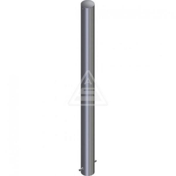 Absperrpfosten Ø 89 Stahlrohr zum einbetonieren mit Stahlkappe