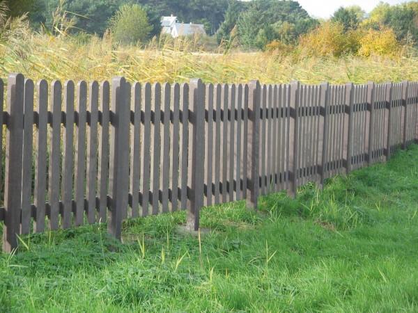 Zaunpfosten 9 x 9 cm Pfosten für Zaun aus Recycling Kunststoff