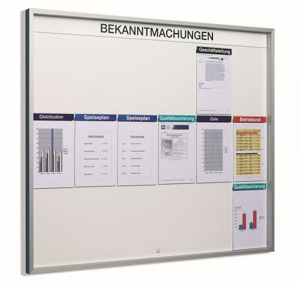 Infotafel Orgastar Standard Organisations-System Schaukasten Innen