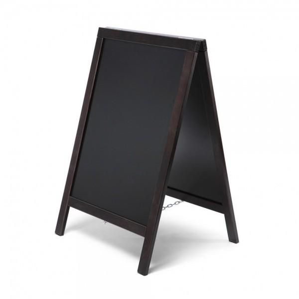 Kundenstopper Economy Holz Werbeaufsteller doppelseitig mit Tafel