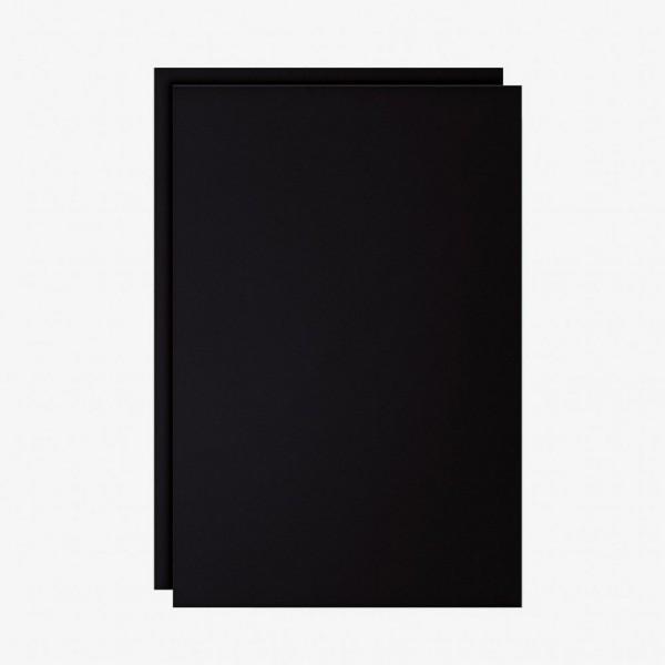 Schreibfolie schwarz Set 2 Stück Folie Ersatzfolie beschreibbar