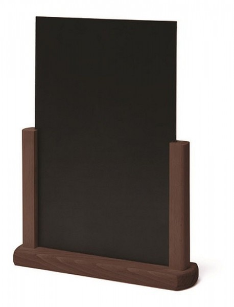 Tischaufsteller Holz Aufsteller in A5 A4 mit beschreibbarer Tafel