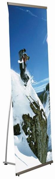 Banner Aufsteller einseitig - Banner Halter flexibel aus Aluminium