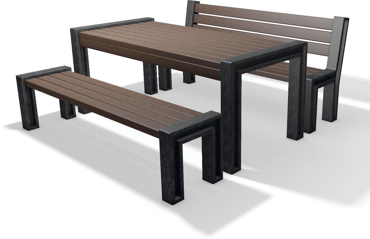 sitzgruppe set hyde park tisch bank recycling kunststoff amsdirekt. Black Bedroom Furniture Sets. Home Design Ideas