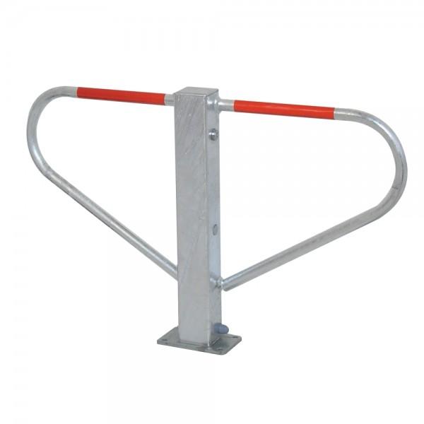 Parkplatzsperre Durchgangssperre umlegbar Dreikantschlüssel 8 mm