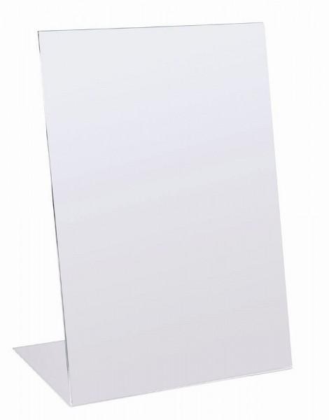Acryl Aufsteller L - Form Prospekt Halter Ständer für Tisch Theke