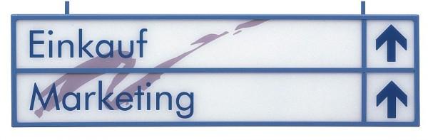 flexibler Wegweiser Schildersystem UNITEX W Größe klein und mittel
