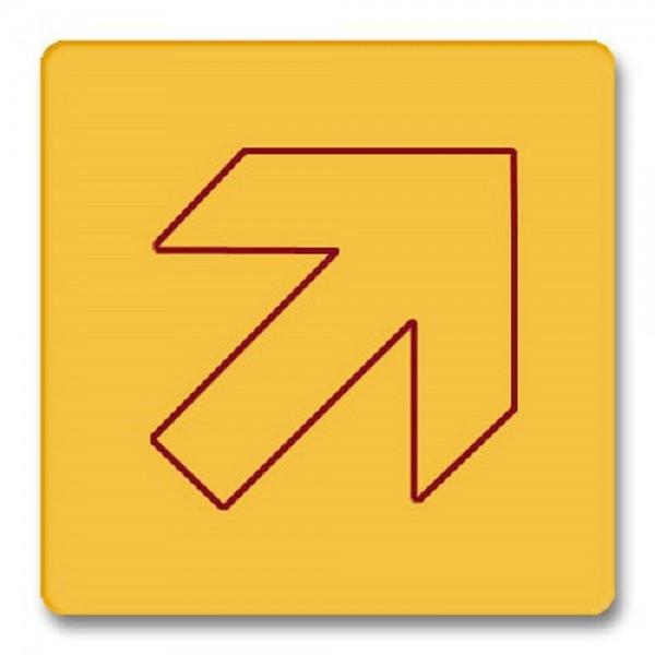 Piktogramm Pfeil schräg Schild Acryl internationales Bildzeichen