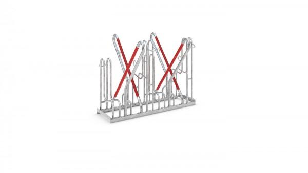 Fahrradständer 4500XBF Ständer zweiseitig ADFC Qualität hohe Bügel