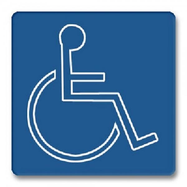 Piktogramm Behinderte Türschild Acryl internationales Bildzeichen