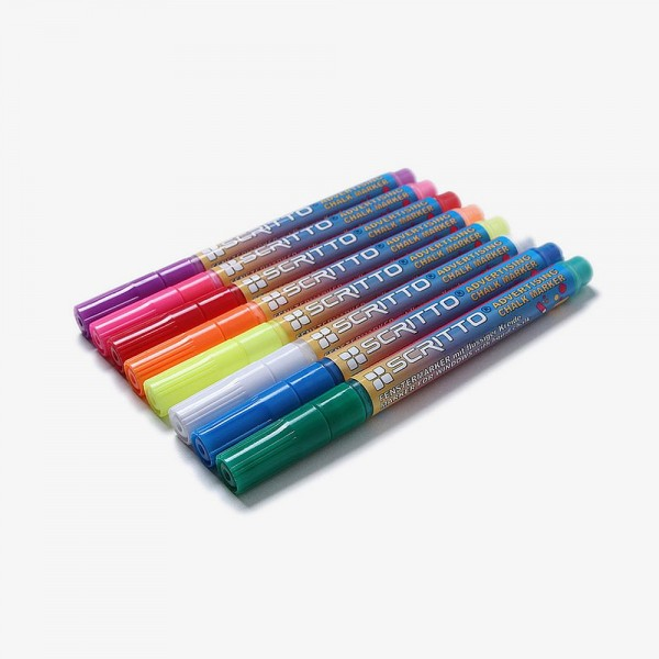 Kreidestift weiß Kreidemarker Schriftbreite 3 mm oder 15 mm Stifte