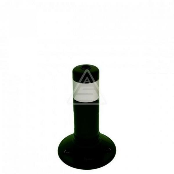 Kunststoffpfosten schwarz Ø 80 mm Flexipfosten mit Schrauben Dübel