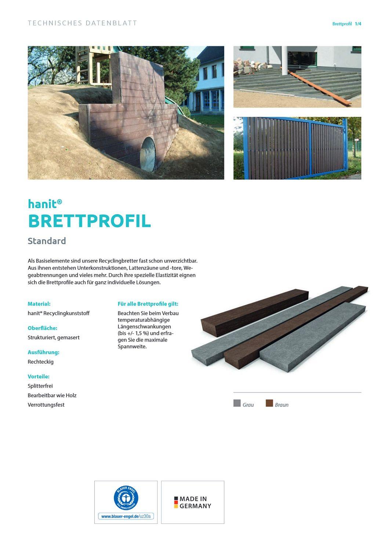 Brett Recycling Kunststoff Brettprofil Bretter Balken wetterfest