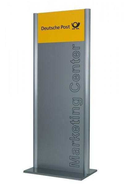 Wegweiser Standmontage Breite 400 mm div Höhen UNITEX G als Pylon