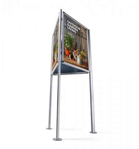 Dreieckständer Plakatständer 3-seitig freihstehend mit Klapprahmen