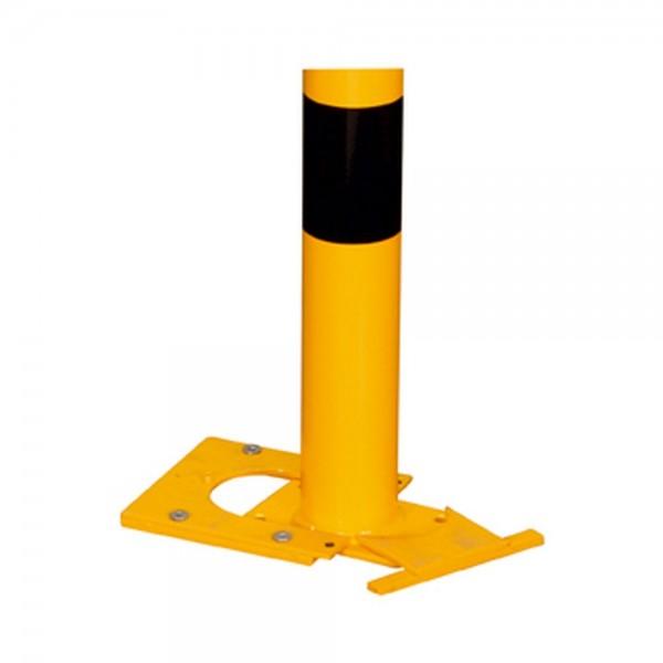 Rammschutzbügel abnehmbar gelb schwarz Schutzbügel Werkschutz