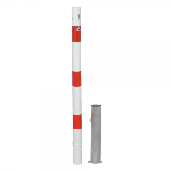 Absperrpfosten Ø 60 herausnehmbar Profilzylinderschloß Stahlrohr