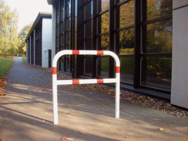 Abweisebügel Sperrbügel mit Querholm z. Aufdübeln Stahlrohr Ø 60mm