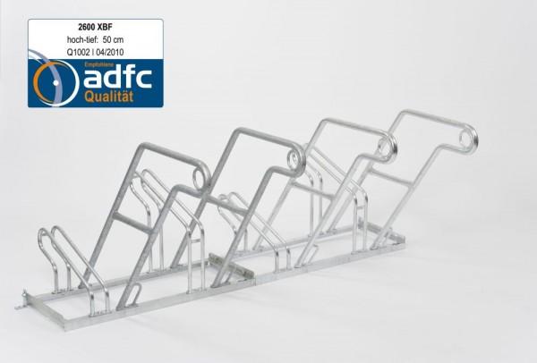 Fahrradständer 2600 XBF einseitig ADFC empfohlen 2 - 6 Fahrräder