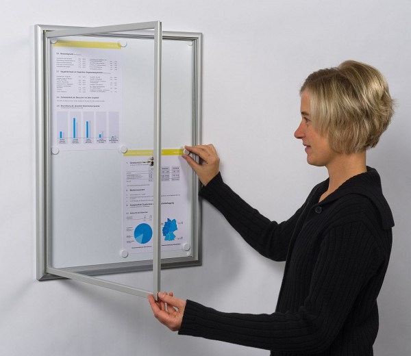 Schaukasten Modell BSK für innen mit Softline Profil in 5 Größen
