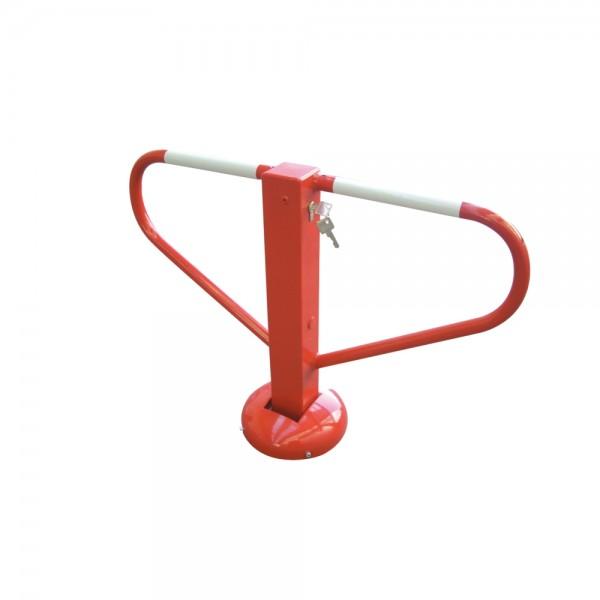 Parkplatzsperre umlegbar elastisch Profilzylinder ortsfest 70x70