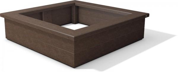 Sandkasten Gobi aus Recycling Kunststoff quadratisch wetterfest